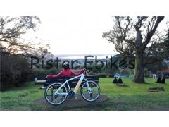 Beautiful scenery with Beautiful Electric Bicycle